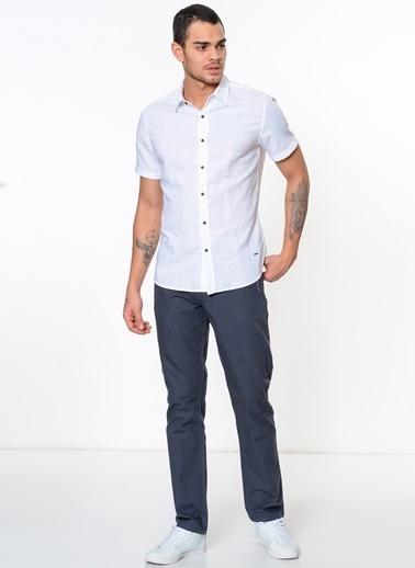 Lee Cooper Kısa Kollu Gömlek Beyaz